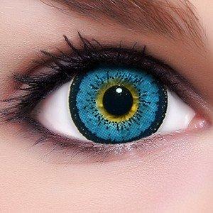 Circle Lenses blaue Angel Blue ohne und mit Stärke + Behälter I 15mm I weich I 3 Monate anwendbar I Ohne und Mit Stärke