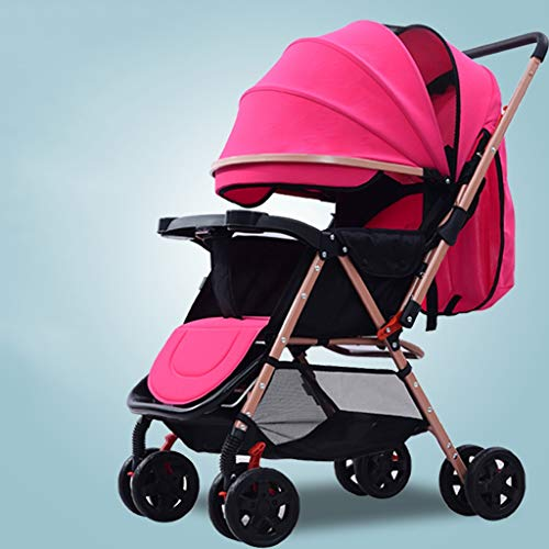 Great Features Of STRR Baby Stroller, Convertible Reclining Stroller, Foldable and Portable Pram Car...