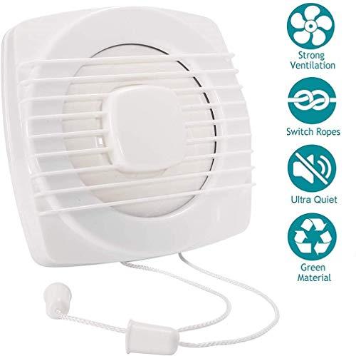 BJCNX Mini tragbarer Ventilator, Dunstabzugshaube 6-Zoll-Badezimmer, Lüftungsventilator für das Badezimmer im Home Office-Badezimmer mit Pull-Cord-Innenverschluss