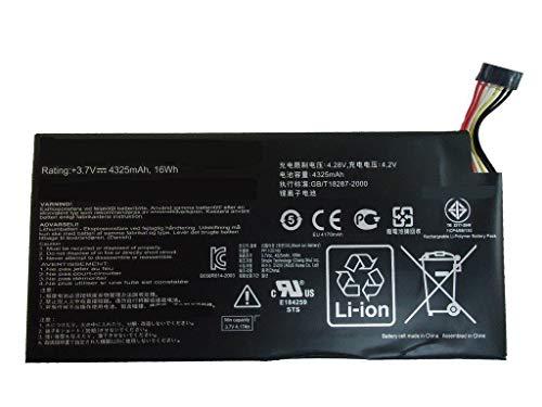 Backupower C11-ME370T - Batería de repuesto compatible con C11-ME370T, ME3PNJ3 Google Nexus 7, 7 16 GB, 7 32 GB, 7 8 GB, 7 Tablet 3,7 V, 4325 mAh