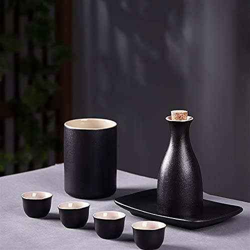 ZAT Juego de vinos de Estilo japonés, gabinete de Vino, Conjunto de vinos de cerámica Creativa Retro