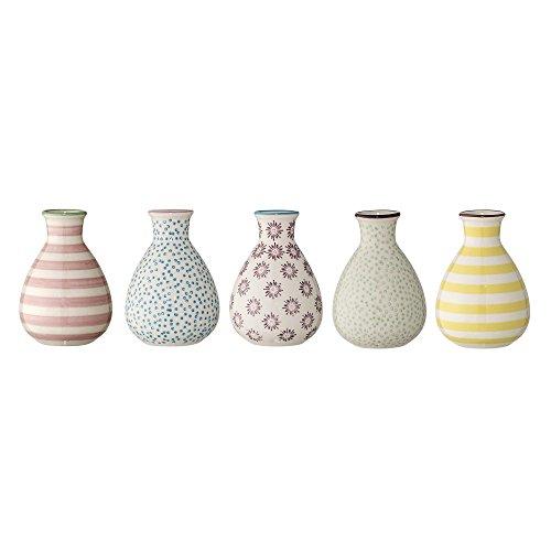 Bloomingville Vase Patrizia, rosa blau lila grün gelb, Keramik, 5er Set