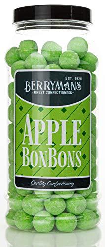 Original Apple BonBons Retro Sweets Gift Jar by Berrymans Sweet Shop (Bon Bons) – Classic Sweets, Traditional Taste.