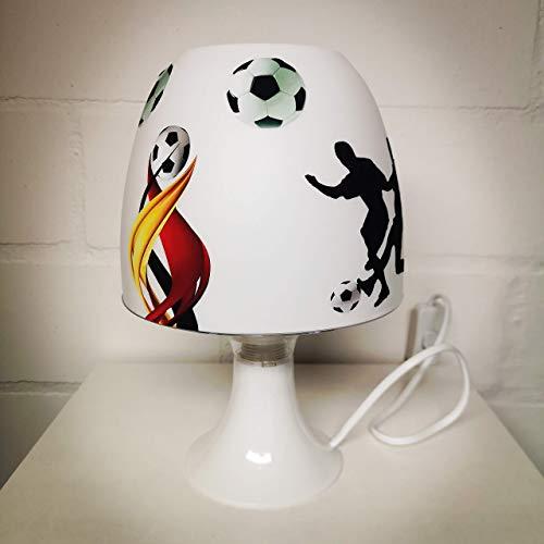 ✿ Tischlampe ✿ FUSSBALL Verein Sport Ball personalisiert Name ✿ Tischleuchte ✿ Schlummerlicht ✿ Nachttischlampe ✿ Lampe ✿