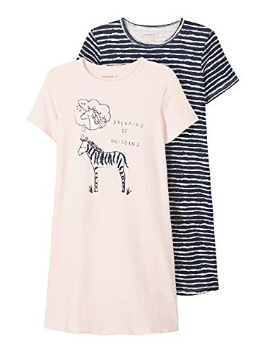 NAME IT 2-er Set Nachthemden aus Bio-Baumwolle für Mädchen 122-128