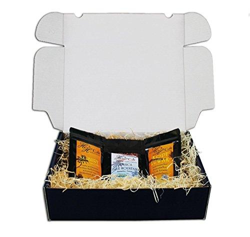 Caja de regalo rarezas de café Kopi Luwak 30 g, Jamaica 50 g y Hawai 100 g(molido)