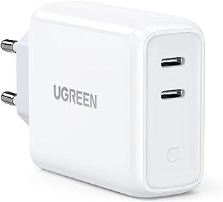 UGREEN USB Laddare C 36W 2 Portar PD 3.0 USB Snabbladdare Kompatibel med Macbook iPad Pro Galaxy S21 S20 S10 iPhone Se 202...