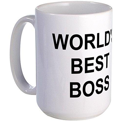 CafePress Original World's Best Boss Large Coffe Mug Coffee Mug, Large 15...