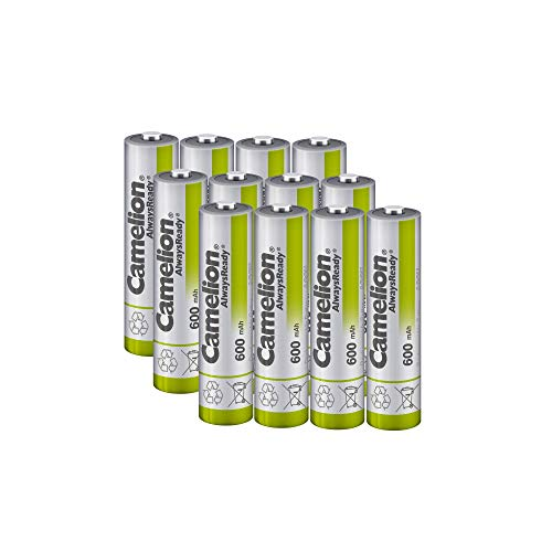 Camelion AAA NH Solar Rechargeable Batteries 600mAh (12 Counts) for Solar Powered Devices, Solar Lawn Light, Solar Light, Solar lamp, Lawn Light, Free Battery Storage Box