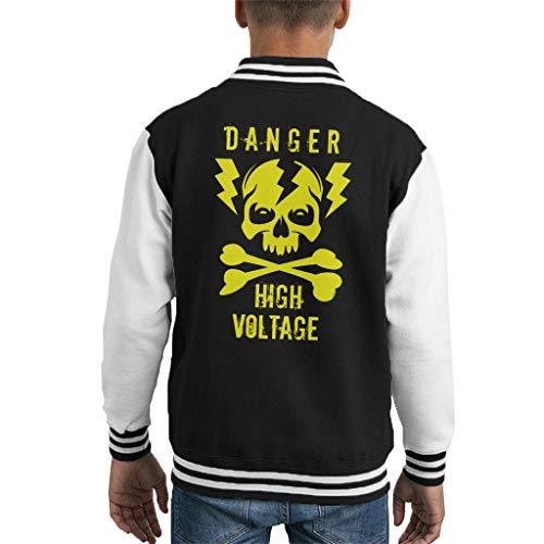Cloud City 7 Danger High Voltage Skull Kid's Varsity Jacket