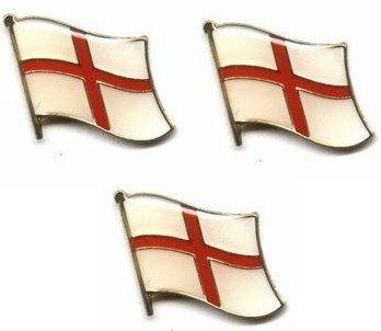 Lot de 3 pin's en métal avec drapeau anglais Croix de Saint George