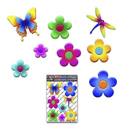 FIORI & Volantini Piccola farfalla libellula animali confezione piccola adesivi per auto Decalcomanie - ST00056_1 - Adesivi JAS