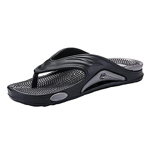 MGW Hombre Verano Chanclas Playa Piscina Comodas Sandalias Planas Caminar Antideslizante Yoga-Espuma Zapatos adecuadas para natación Vacaciones Caminatas Playa,Gris,EU40/US7.5/UK6.5