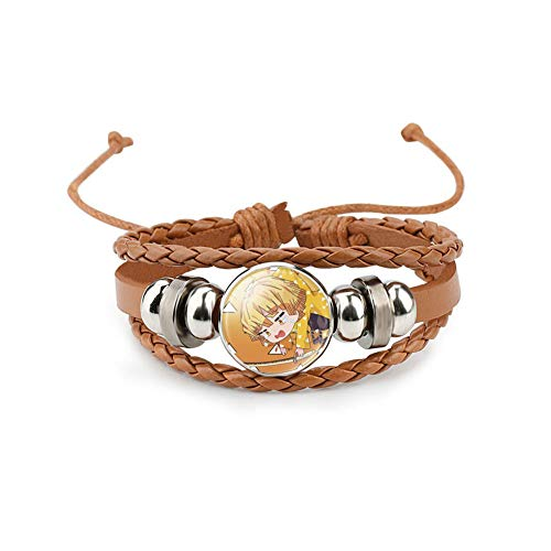 Aestdo Adjustable Bracelets Leather Jewellery for Women and Men, Charm Bracelet Gifts for Christmas, Anniversary and Birthday (Style - 14)