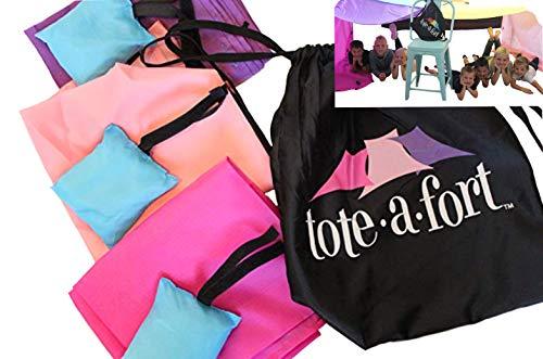TOTE A FORT Blanket Fort Kit for Kids, The Original, Kids Fort,...