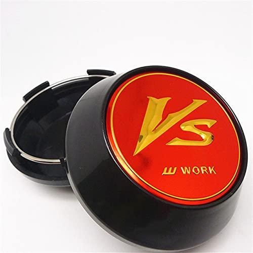 YOUGEYG Stemma con Stemma coprimozzo coprimozzo coprimozzo per Accessori VS W Work Emotion X7, 65 mm, Set da 4 Pezzi