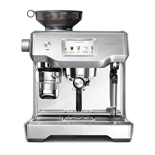 Sage Appliances - Macchina per espresso in acciaio INOX spazzolato schermo touch Tampern und Milchschaum automatisch Acciaio brunito.