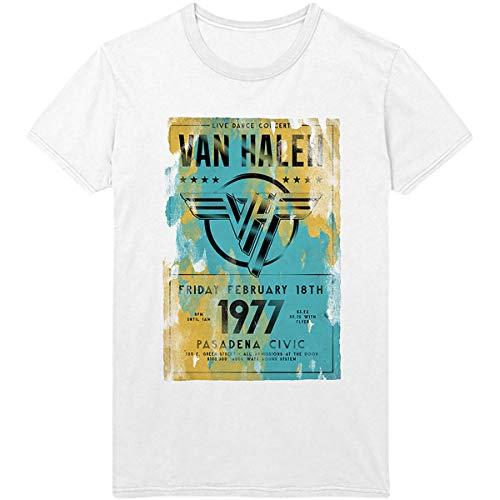 Van Halen Tour Pasadena 1977 Official Tee T-Shirt. S to XXL
