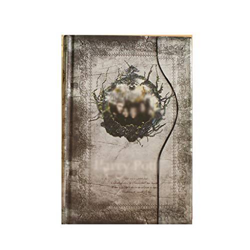 ZRJ Pequeño Cuaderno A6 Cuero Creativo a Cuadros en Blanco Retro Cuaderno periódico Composición Doom para el Diario Personal Cuaderno de Viajero Regalos (Color : A, tamaño : 1PCS)