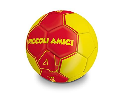 Mondo Sport - Pallone da football SCHOOL 4 - misura 4 Piccoli Amici - 330 g - colore giallo rosso - 13234