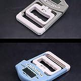Contador electrónico Medidor de agarre Fuerza de agarre manual Dinamómetro Fuerza Medición de potencia Entrenamiento de dinamómetro - Azul claro + Blanco