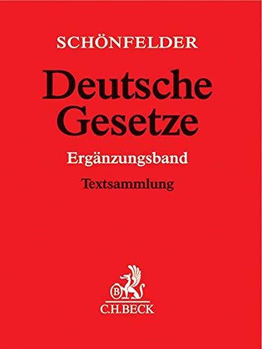 Deutsche Gesetze: Ergänzungsband