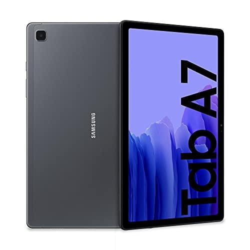 Samsung Galaxy Tab A7 Tablet, Display 10.4  TFT, 32GB Espandibili fino a 1TB, RAM 3GB, Batteria 7.040 mAh, WiFi, Android 10, Fotocamera posteriore 8 MP, Dark Gray [Versione Italiana]