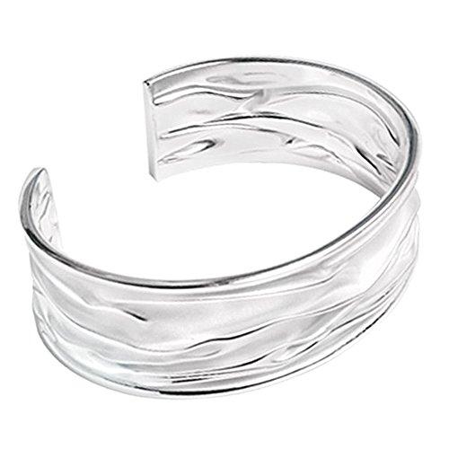 Silberarmreif massiv breit 925 Sterling Silber Armreif Armband Herren Damen Schmuck Armspange verstellbar Siberarmreifen Männer Frauen Armreifen Schmuck Geschenk Herrenschmuck | Geburtstagsgeschenk