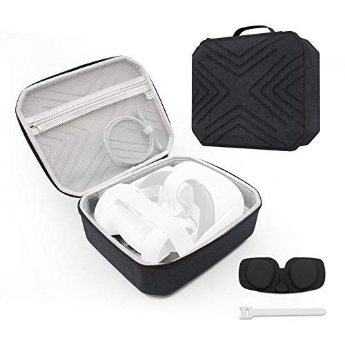 TangYang Travel Case Gadget Case Small, Electronics Accessories Organiser Travel Item Carry Bag, Carrying Travel Case Compatible for Oculus Quest 2 VR Gaming Headset Shockproof