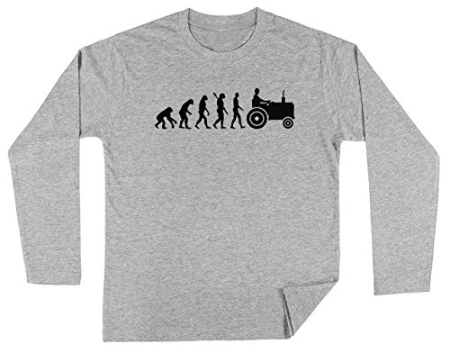 Evolutie Trekker Unisex Kinder Jongens Meisjes Lange Mouwen T-shirt Grijs Unisex Kids Boys Girls's Long Sleeves T-Shirt Grey