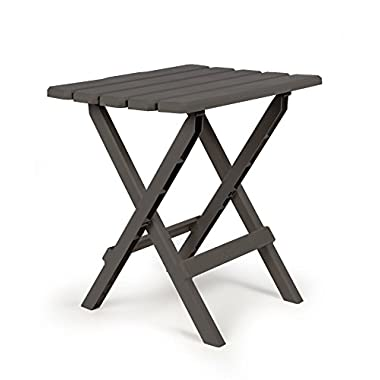 Camco 51885 Large Quick Folding Adirondack Side Table - Charcoal