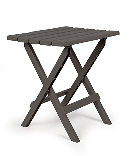 Camco 51885 Charcoal Large Adirondack Portable Outdoor Folding Side Table, Perfect for The Beach, Camping, Picnics, Cookouts & More, Weatherproof & Rust Resistant