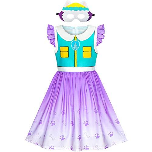 Sunny Fashion Mädchen Kleid Pfote Everest Patrouillieren Kostüm Halloween Party Gr. 110