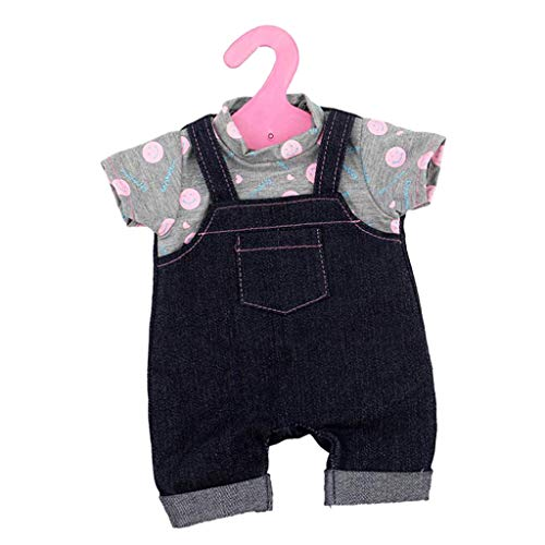 Baoblaze 2X Fashion Ropa en Miniatura Mono Mamelucos para Muñecas Americana Niño 18 Pulgadas - #1
