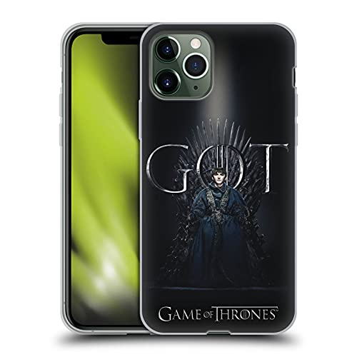 Officiële HBO Game of Thrones zemelen Stark Seizoen 8 voor de troon 1 Soft Gel Case Compatibel voor Apple iPhone 11 Pro