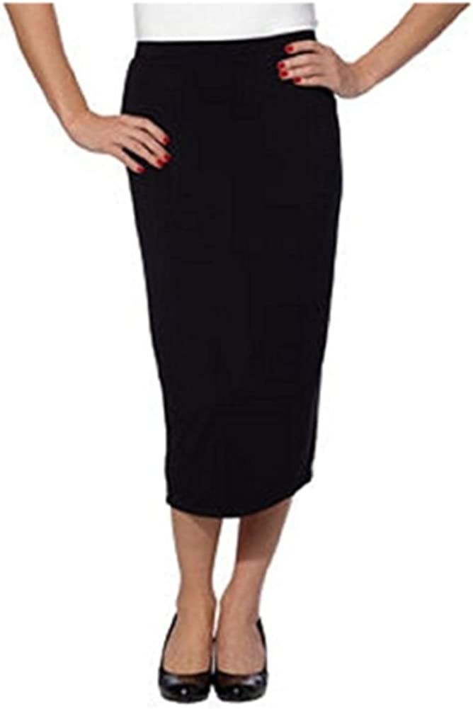 Matty M Ladies' Midi Skirt-Black, Medium