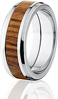 New Rosewood Rings, Exotic Hard Wood Wedding Band w/ Comfort Fit