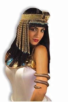 Forum Novelties Women s Egyptian Costume Accessory Asp Snake Beaded Headpiece Gold One Size