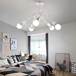 YOKIA Modern Chandelier, Mid-Century 5 Lights Sputnik Pendant Lighting,Industrial Brushed Nickel Ceiling Light Fixture for...