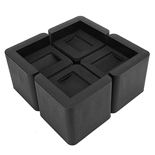Duokon 4 stuks duurzame multifunctionele meubels riser - bed riser Square tafel riser voor bank slaapbank stoel tafel, extra opbergruimte (zwart)