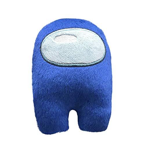 GJH Mini Crewmate Among Us, Among us Peluche 20 cm, Muñeca Peluche de Juguete Sofá Silla Decorativa (Azul, 20cm)