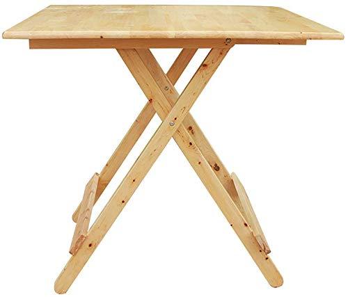 WYJW klaptafel opklapbare bijzettafel, opklapbare koffietafel, klein nachtkastje, vierkant, campingtv hobby tuinhuis (grootte: 60 * 60 * 55cm)