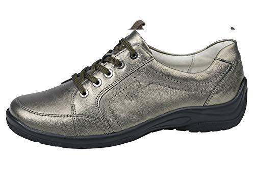 Waldläufer Women Sneaker Lace Up Hesna Bronce US L9.5 Shoe Width H = for Stronger Foot