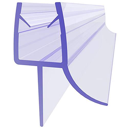 SONNI Junta para Mampara de Ducha 90cm,Junta de Goma de Repuesto para Cabina de Ducha,Tira de Goma Plástica con Labios de Goma Extendidos,Tira de Recambio Recta de PVC para Vidrio de 7/8 mm
