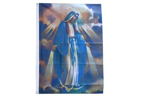 Digni® Drapeau illuminée Vierge Marie - 90 x 150 cm