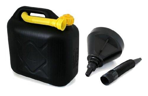 AD Tuning Kunststoff Kanister, Volumen: 10 Liter (Lieferung ohne Inhalt) Inkl. Ausgieser - Schnorchel.