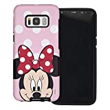 Galaxy S8 Case, Cute Minnie Mouse Layered Hybrid [TPU + PC] Bumper Cover [Shock Absorption] for Galaxy S8 (5.8inch) - Dot Minnie Mouse