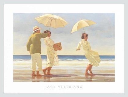 Germanposters Jack Vettriano The Picnic Party Poster Kunstdruck Bild mit Alu Rahmen in Silber matt