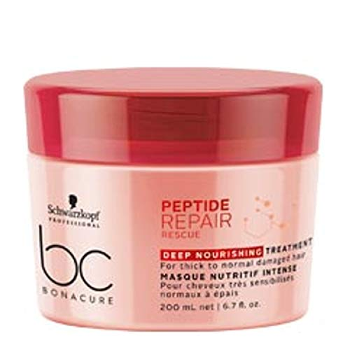 Schwarzkopf Professional BONACURE Peptide Repair Rescue Deep Nourishing Treatment, 200 ml