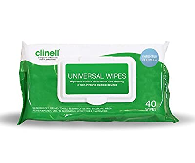 Clinell Universal Sanitising Wipes - Pack of 40 / Lot of 3 from Clinell